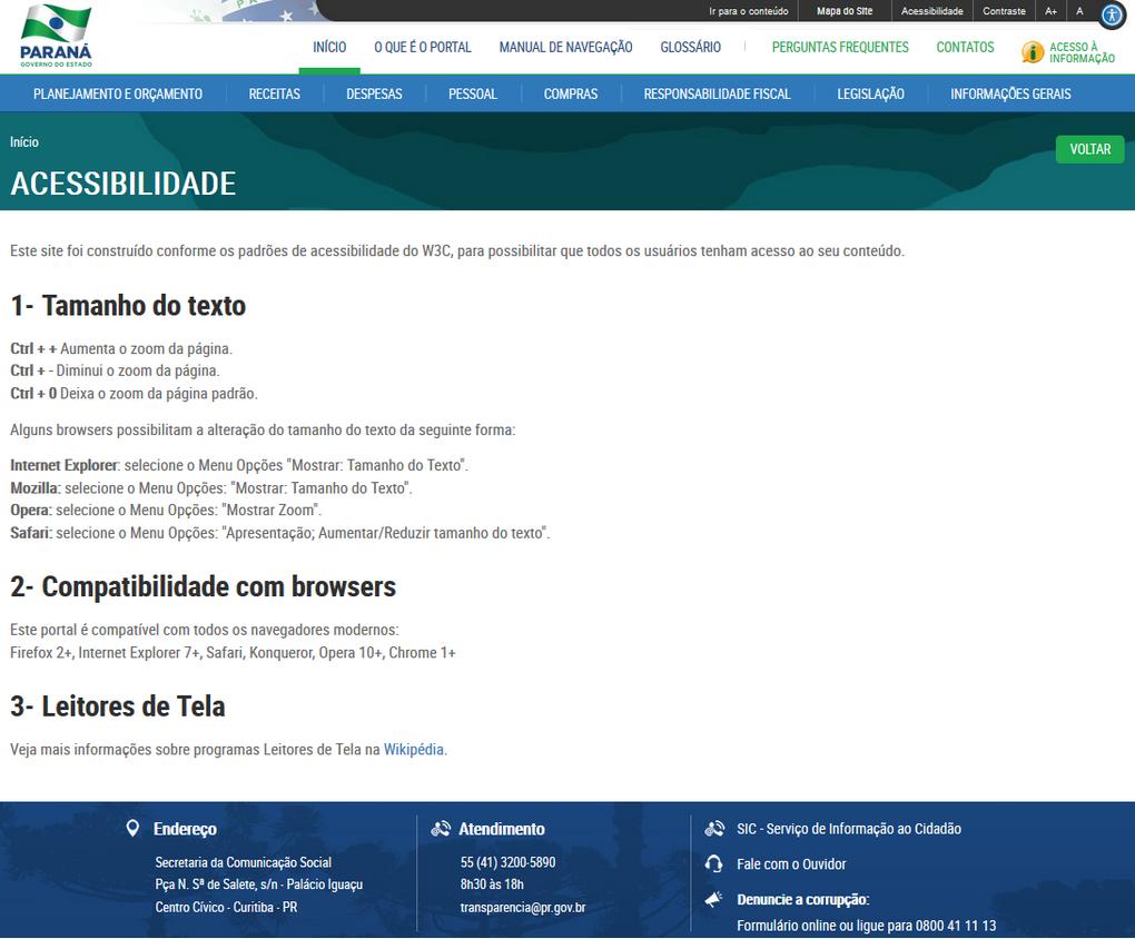 Imagem - Portal da Transparência do Paraná - Conteúdo de Acessibilidade