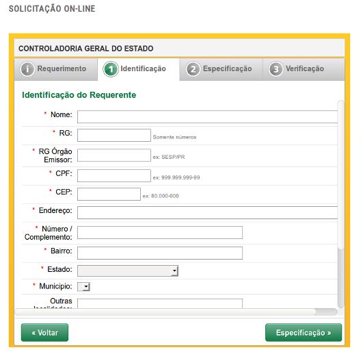 Imagem de Acesso a Informação - Identificação do usuário